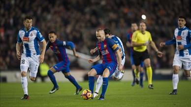 El derbi Barça-Espanyol, en directe 'on line'