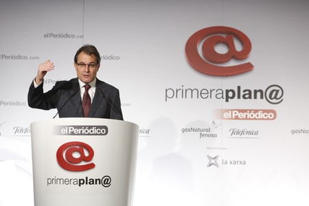 Artur Mas, durante su intervencin en el foro Primera Plan@.