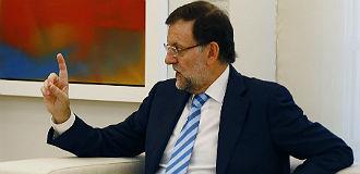 El presidente del Gobierno, Mariano Rajoy, durante su reuni�n con Mas, este mi�rcoles.