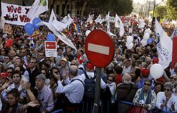 Manifestaci�n contra el aborto, en Madrid.