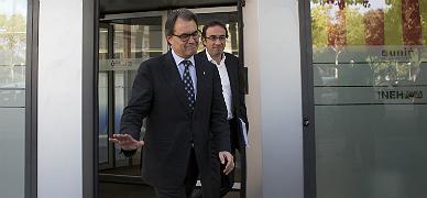 Artur Mas, tras la reuni�n de la ejecutiva de CiU.
