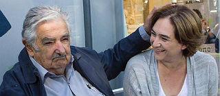 Colau se re�ne con el expresidente uruguayo Jos� M�jica