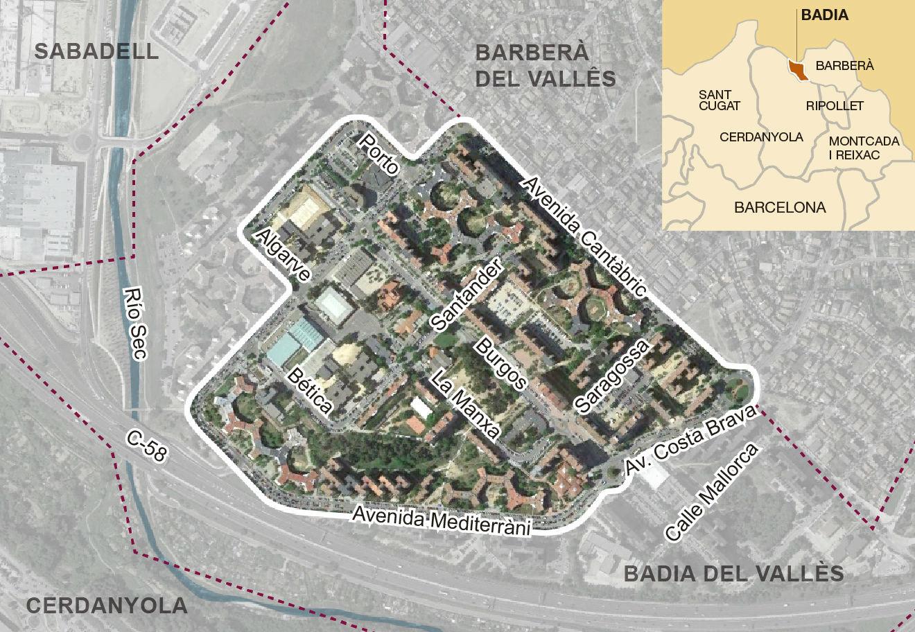 El psc empieza su campa a en la ciudad hecha con el mapa de espa a - Tiendas de muebles en cerdanyola del valles ...