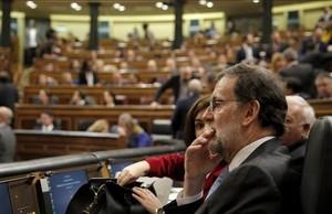 El presidente del Gobierno en funciones, Mariano Rajoy, en la sesión constitutiva del Congreso, el pasado 13 de enero.