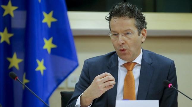 El presidente del Eurogrupo, Jeroen Dijsselbloem, interviene ante la Comisón de Asuntos Económicos y Monetarios de la Eurocámara en Bruselas.