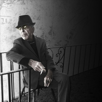 Leonard Cohen, en la fotografía usada para la portada de nuevo disco, 'You want it darker'.