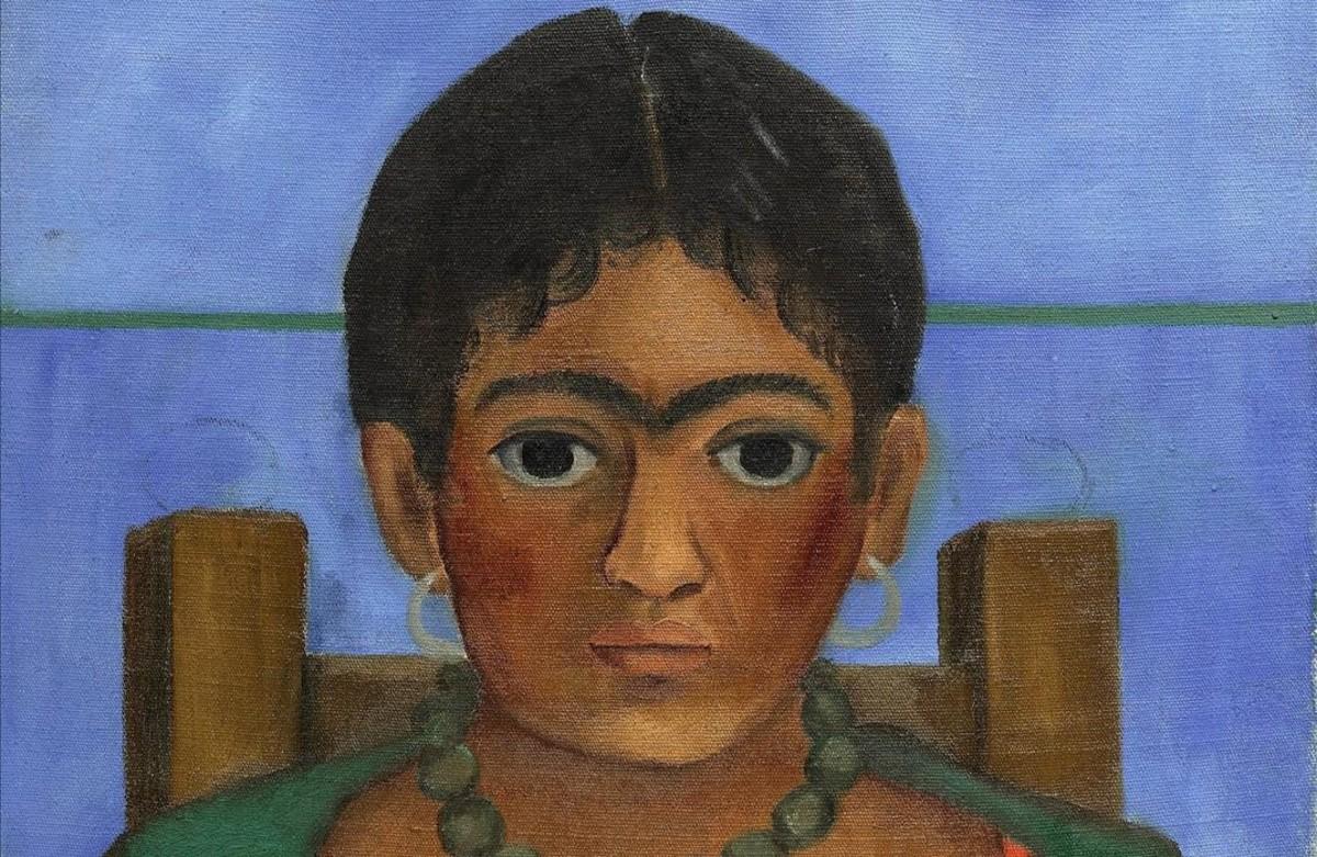 Detalle de Niña con collar, de Frida Kahlo, subastada por 1,7 millones de euros.