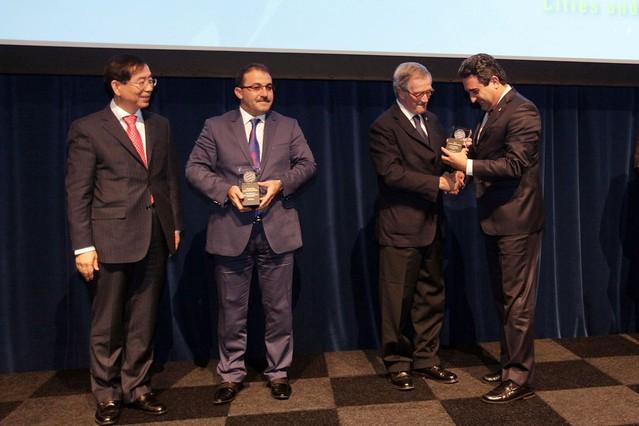 Sabadell recibe un premio a la mejor gesti�n urbana en el congreso de ciudades inteligentes de Barcelona