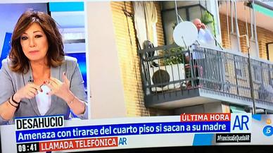 Ana Rosa Quintana fa de mitjancera amb un home que amenaçava amb suïcidar-se