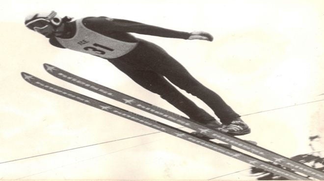 Ángel Joaniquet, saltando en los JJOO de Sarajevo 1984.