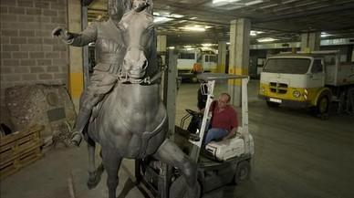 Picabaralla entre Barcelona en Comú i ERC per una exposició d'escultura franquista davant del Born