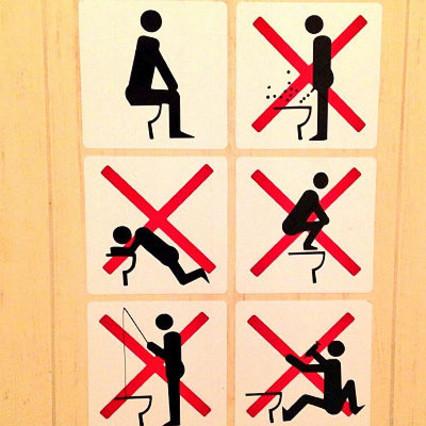 Prohibido drogarse y pescar con caña en los aseos de los JJOO de Sochi