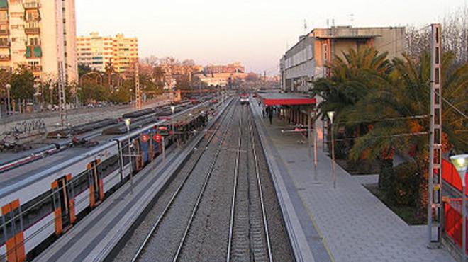 La estaci�n de Cercan�as de L'Hospitalet de Llobregat.