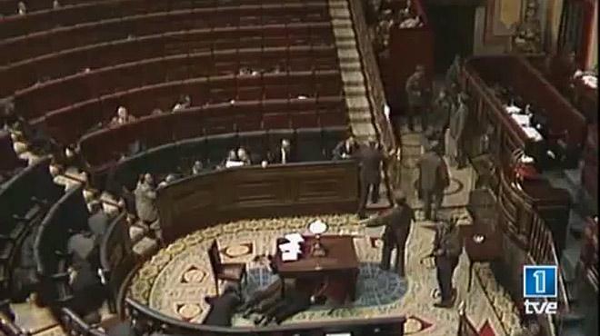 El intento de golpe de Estado del 23F.