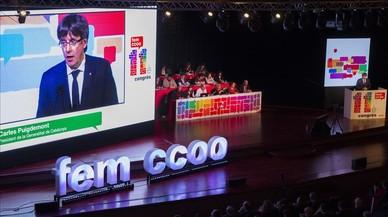 CCOO de Catalunya inicia el seu congrés amb la complicitat de Puigdemont i Colau