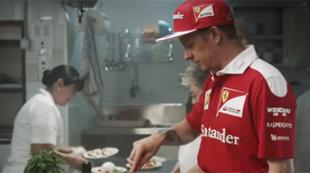 Kimi R�ikk�nen y Sebastian Vettel compiten entre fogones