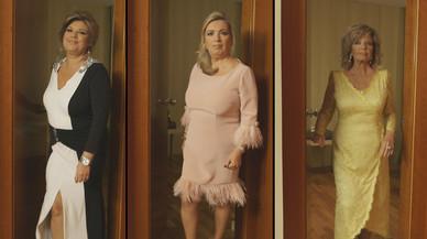 Imagen promocional del programa de Tele 5 'Las Campos', con María Teresa Campos y sus hijas Terelu y Carmen.