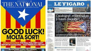 Las portadas de la prensa internacional: pendientes del referéndum de Catalunya