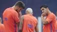 El 'Bar�a de Su�rez y Neymar' se estrena en Gij�n