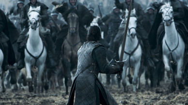 Impactante imagen de una de las series impescindibles para este verano: 'Juego de tronos'.