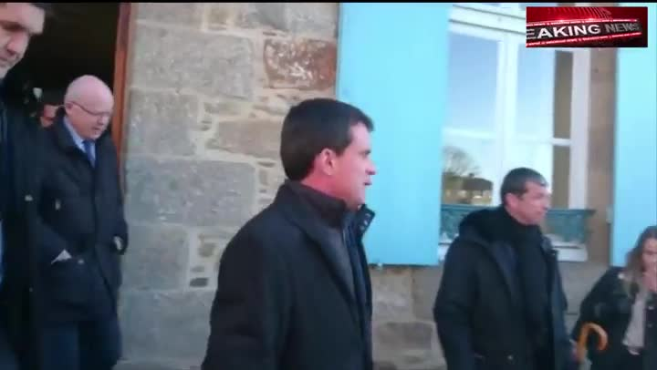 Vídeo que muestra el momento en que un joven abofetea a Manuel Valls.