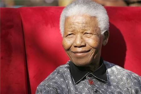 Mandela, durante la fiesta de su aniversario, el 20 de julio del 2005, en Johannesburgo.