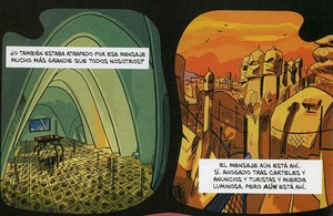 Página de El fantasma de Gaudí, de El Torres y Jesús Alonso Iglesias, Premio a Mejor obra de autor español en el Salón del Cómic de Barcelona.