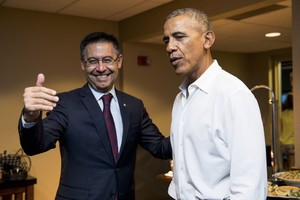 Josep Maria Bartomeu y Barack Obama