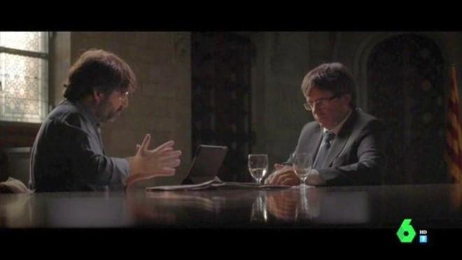 Évole con el president Puigdemont.