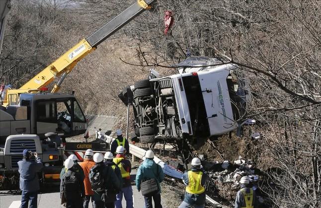 Un accidente de autob�s provoca 14 muertos en Jap�n