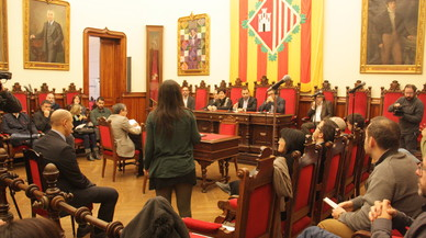 Imagen del pleno de Terrassa durante el debate sobre el recurso de Mina.