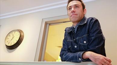 Juanjo S�ez, este viernes, en la librer�a Laie de Barcelona.