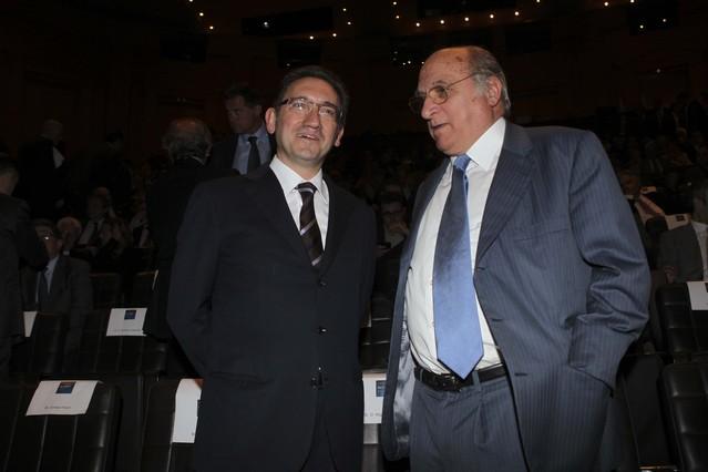Jaume Giró, director ejecutivo de La Caixa, conversa con Francisco Matosas, consejero del Grupo Zeta.