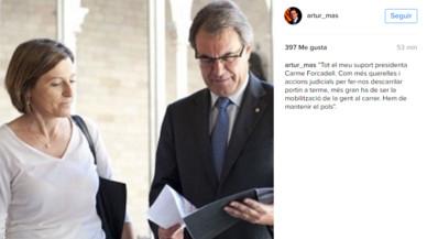 """Artur Mas fa una crida a """"mantenir el pols"""" a l'Estat al carrer"""