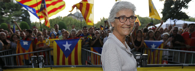 Muriel Casals, tras la aprobaci�n de la ley de consultas en el Parlament, en septiembre del 2014.