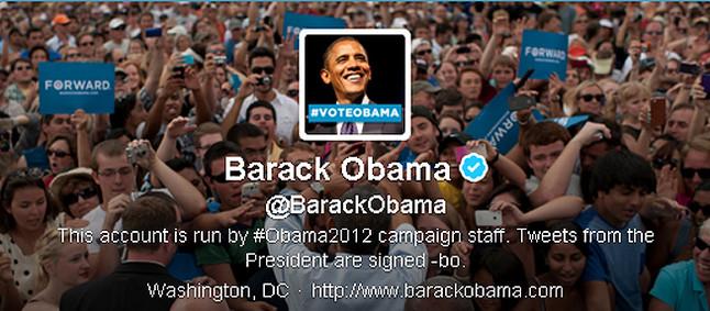Obama da las gracias a los votantes en Twitter