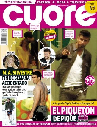 'Cuore' lleva a portada el 'piquetón' de Piqué