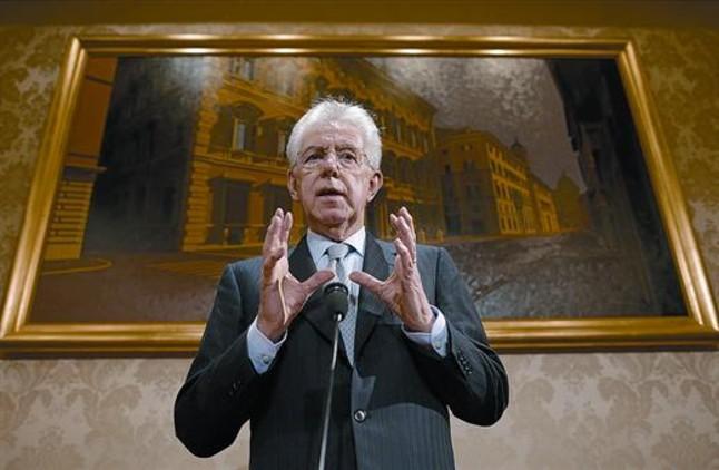 Monti encabezará una coalición centrista sin ser el candidato