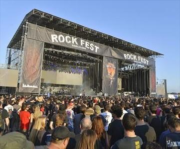 Rockeros 8El p�blico, ayer, en Can Zam.