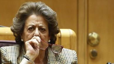 Rita Barber�, en su esca�o del Senado.
