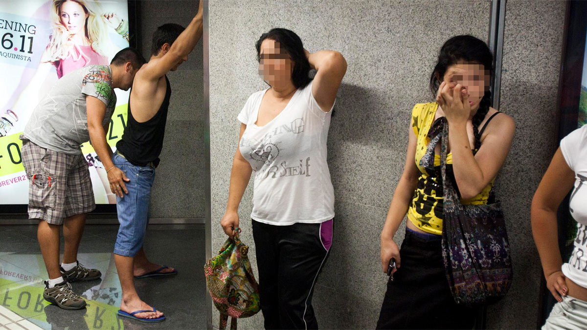 Robos en el metro de Barcelona.