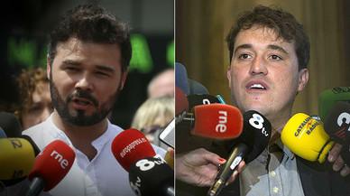 Picabaralla entre Bonvehí i Rufián a compte de la gravació al dirigent del PDECat