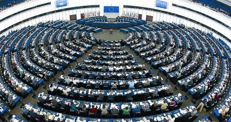 Imagen de archivo del interior del Parlamento Europeo, con sede en Estrasburgo, durante el transcurso de una votacin, en junio del 2011.