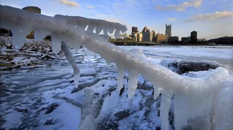 Imagen de Pittsburgh con temperaturas bajo cero.
