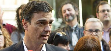 El secretario general del PSOE, Pedro S�nchez, este s�bado en Palma de Mallorca.