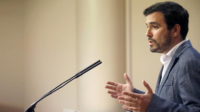 Garz�n: 'El PSOE ha preferido ser guardia pretoriana del jefe de la G�rtel antes que hacer un Gobierno alternativo'