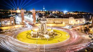 Imagen de la Fira de Barcelona en Plaza España, en Montjuic, donde se celebrará el Automobile BCN.