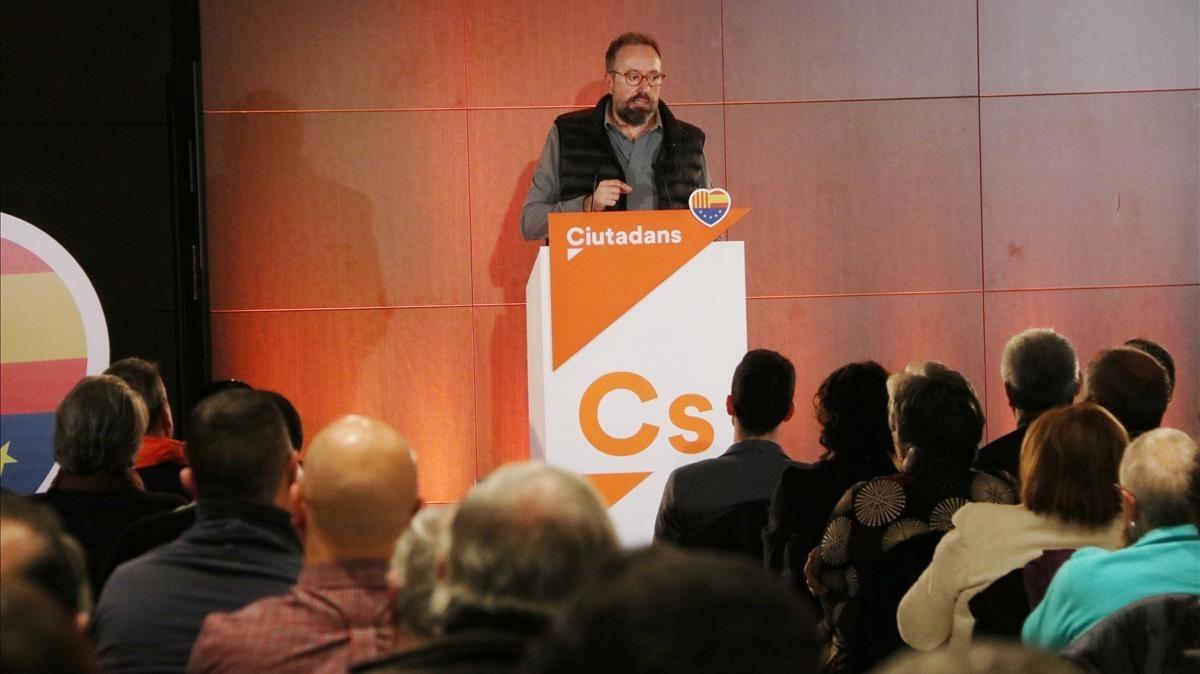El diputado de Cs en el Congreso Juan Carlos Girauta, este jueves, en un hotel de Mataró.