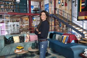 Nuria Roca, en el plató de Singles XD