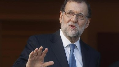 Així de feliç estava Mariano Rajoy el 1998 amb la setena del Madrid